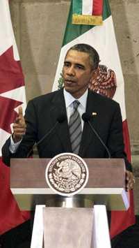El presidente de Estados Unidos, Barack Obama, tiene la presión de grupos ambientalistas que se oponen al polémico acueducto canadiense Keystone XL. Foto Marco Peláez