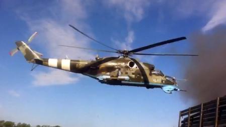 Un Mi-24 del ejército ucraniano. RT